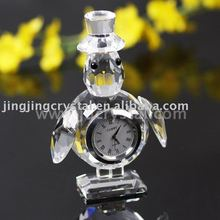 Personalized Wedding Favor Crystal Table Clock For Office Decoration
