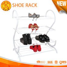 Retail Heavy duty waterproof four-layers large shoe rack storage for sale home decoration