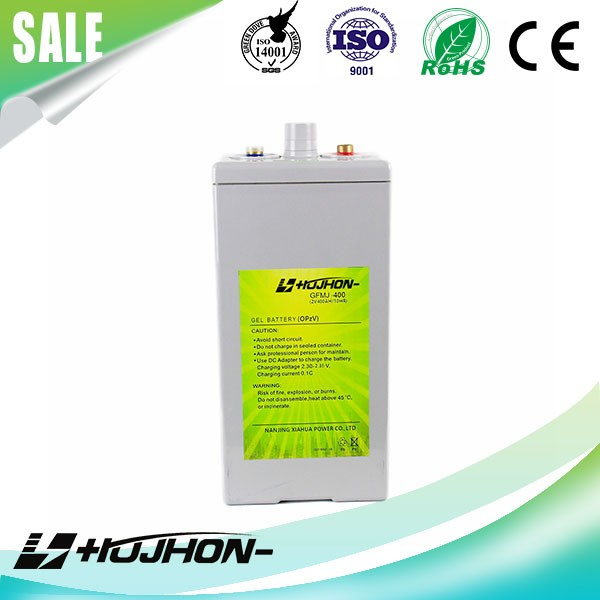 Hot sale deep cycle 2v400ah OPZV solar storage battery