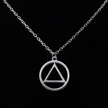 stainless steel fashion geometric hip hop triangle eminem pendant necklace