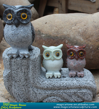 hand made stone owl figurine animal sculpture