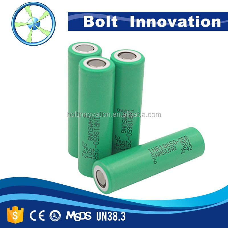 Authorized distributor samsung 25r 18650 battery inr18650-25r 2500mah