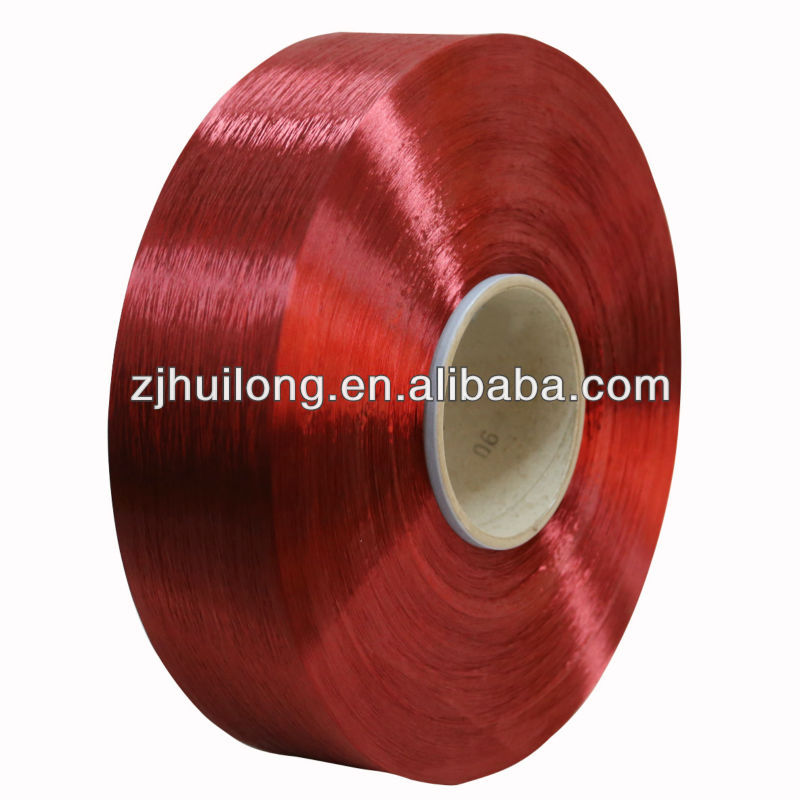 dope dyed color polyester yarn fdy 108D/48F for embroidery thread