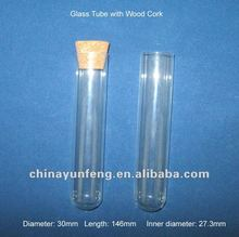 Corked glass tube for holdin cigar, chemicals, wishings, glitters, storage use