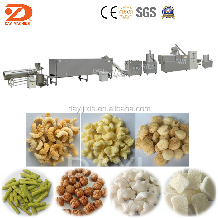 Sweet Corn Pops Snack Production Machine
