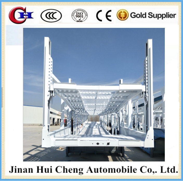New Double Level Opened Desigh Car Carrier Truck Trailer for Car Transport