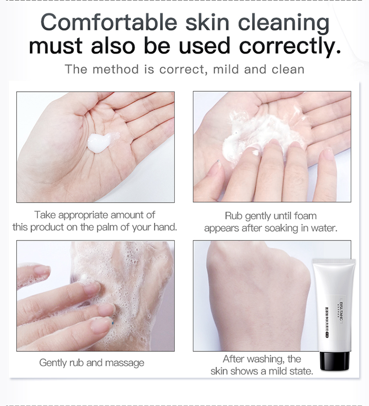 Hot-selling in 2019 year Amino Acid Whitening Deep Cleansing Facial Cleanser Acne Treatment Foaming face Cleansing
