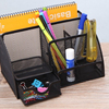 Metal Mesh 6 Compartment Desk Organizer