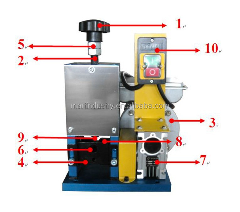 Small power pneumatic wire stripper/enamel wire stripping machine with CE