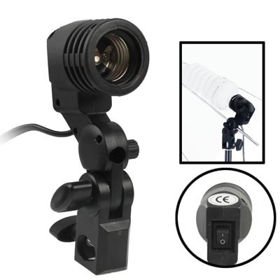 Hot Selling Camera accessories , E27 AC Socket Studio Light Mount Stand Umbrella Holder