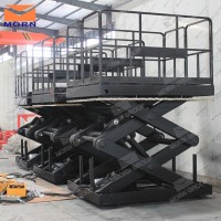 scissor mechanism underground warehouse garage used cargo elevator lift