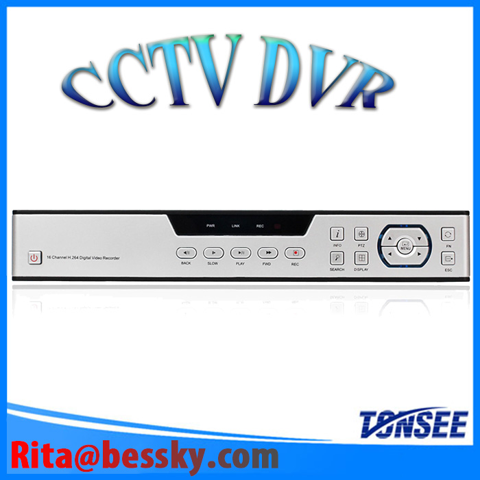 16CH alarm DVR Security Network 16 channel CCTV DVR support P2P Cloud