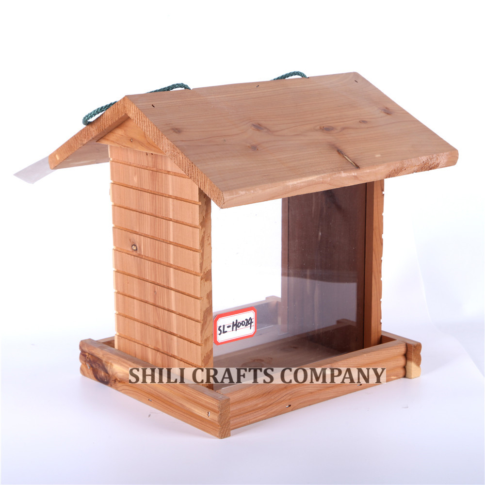 SL-H0024 fly through pavilion Red Cedar Bird Feeder