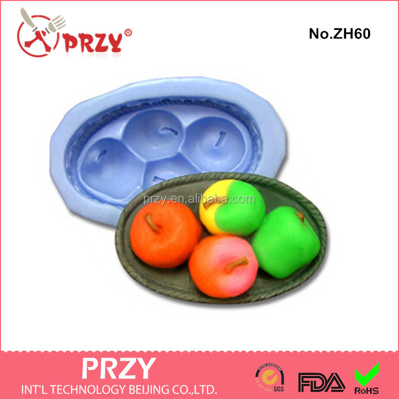 DIY apple silicone soap soap mold/peace fruit chocolate moulds