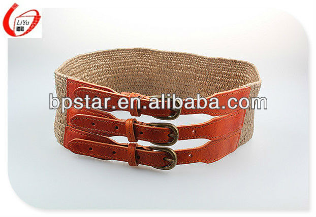 fashion pu elastic waist belt