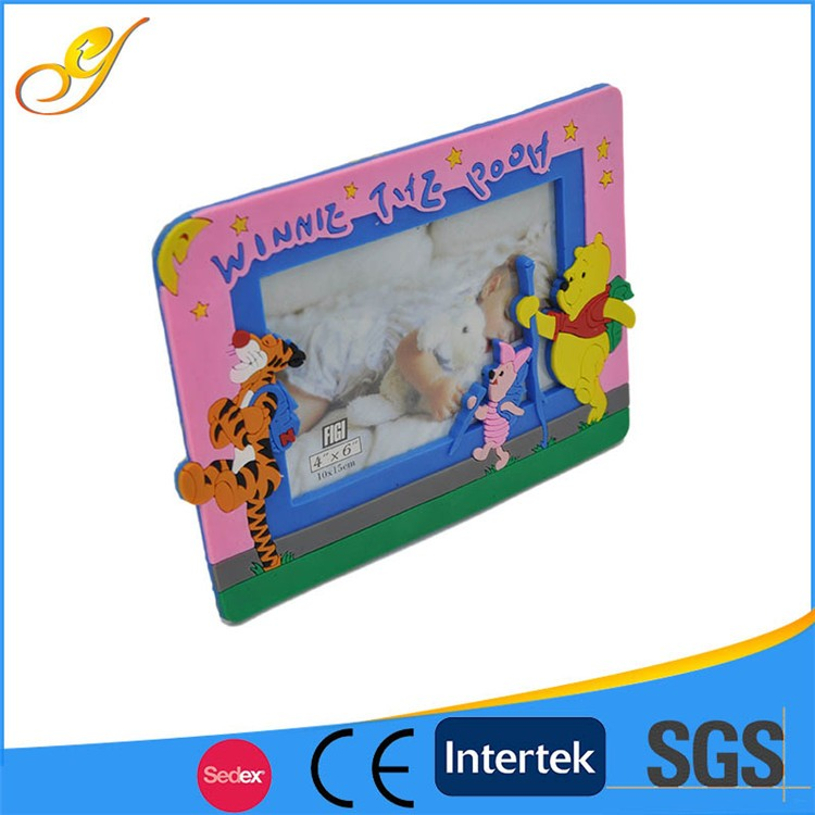 Newest 3D Design Promotional Gifts Rubber Photo Frame
