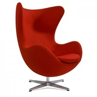 Modern design 2015 Classic style swivel egg chair, Replica leisure furniture Arne jacobsen red egg chair