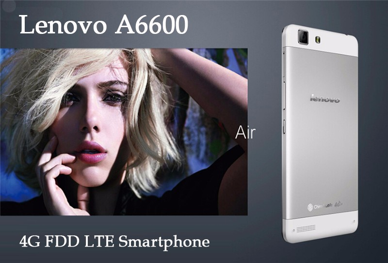 Original Lenovo A6600 Quad Core MTK6732 smart phone 1.5GHz 5.0 inch IPS Screen 1280*720 1GB/8GB 4G Android 4.4 Gold