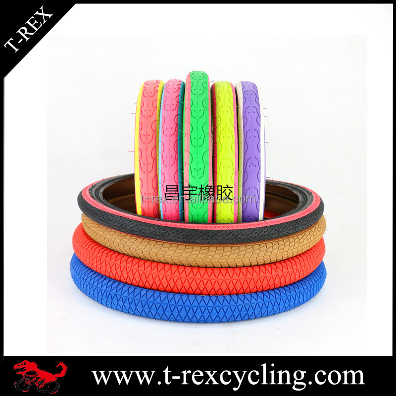 Natural rubber colored kids' bicycle tyre 12x1.75 inch children bike tires