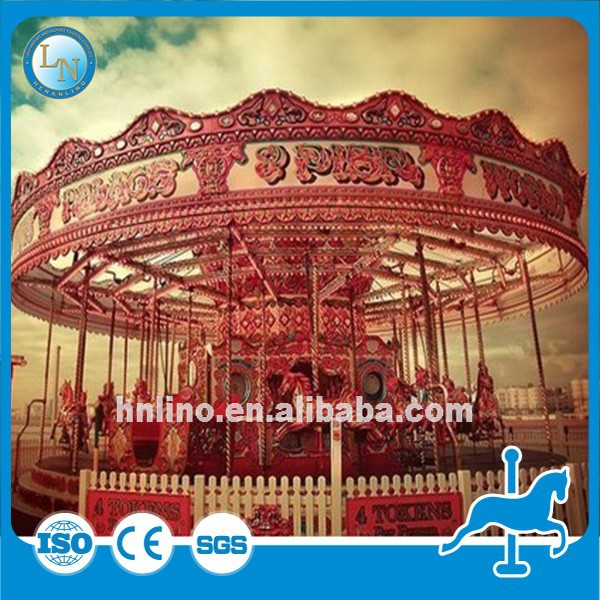 New amusement park products indoor kids carousel rides fairground carousel horses for sale