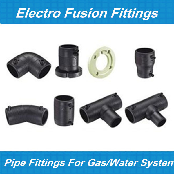 Hdpe electrofusion fitting electro fusion tee unequal