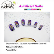 Best Selling Artificial Nails Halloween Design Nail Art Children Nails