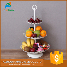 China factory candy dough party 3 tier fruit tray