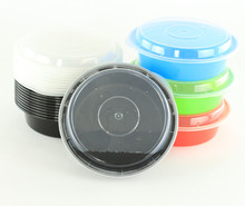Transparent Disposable leakproof Round Food Containers Plastic Clear Storage Circle Tubs with Lids