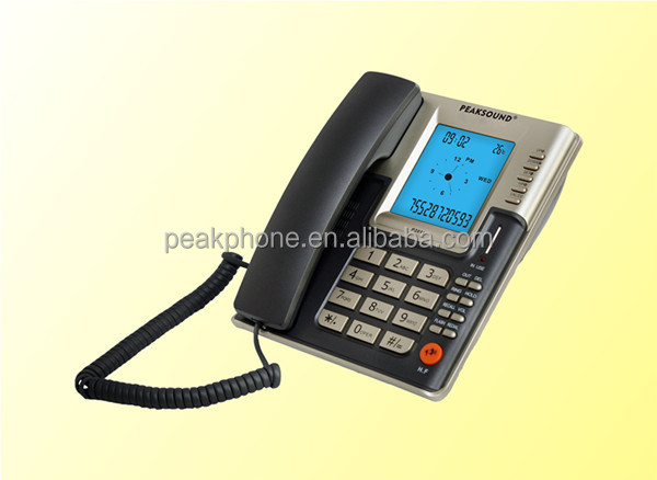 Wired Telephones Desktop Office Telephone Caller ID Landline Phone