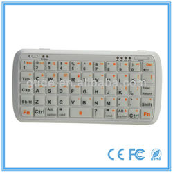 2013 new product Gtide PK-001 external mini wireless silicone keyboard for laptop dell inspiron