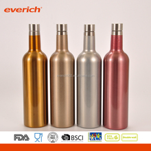 Wholesale Insulated 750ml Stainless Steel Wine Water Bottle