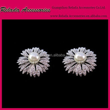 Wholesale metal charms rhinestone shoe ornaments clips for lady slippers
