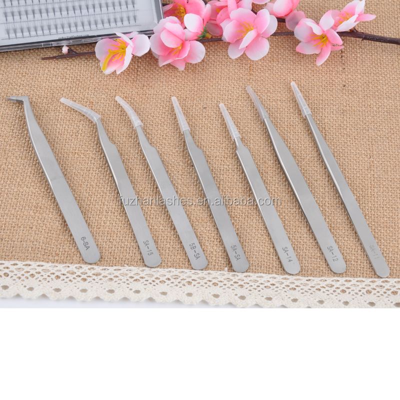 professional makeup tools eyelash extension tools tweezers for eyelashes extension