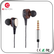 Factory directly oem earbud dynamic drive headphone heavy bass in-ear metal headset dual driver wired earphones
