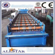 Colored Steel Roofing Step Sheets Cold Forming Production Line/Metal Glazing Step Tiles Roller Former Making Machinery