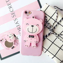 Lovely Style Mpbile Cover 3d silicon animal case for iphone 5c
