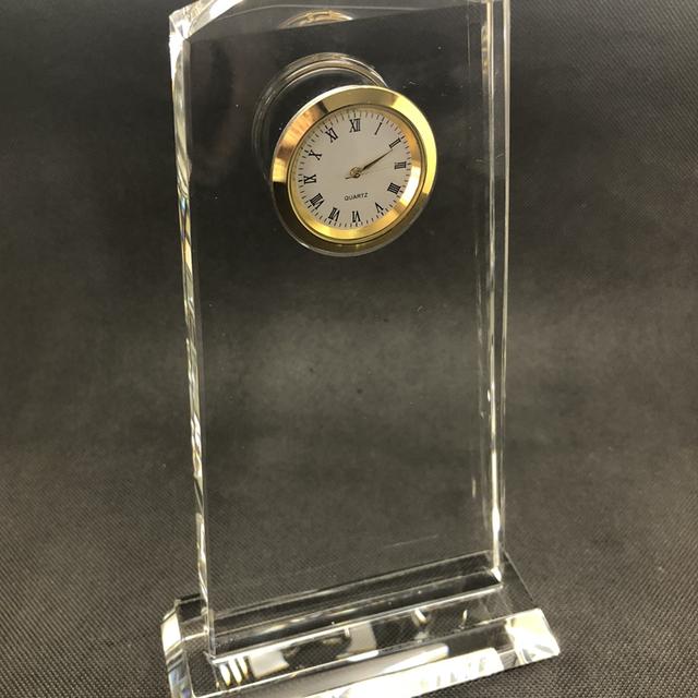 New Design k9 blank plaque crystal clock