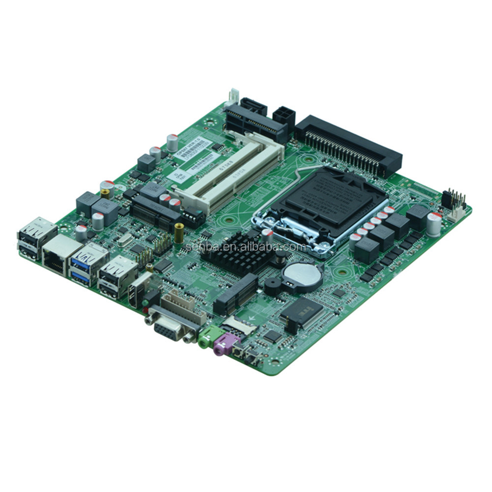 lga1150 socket i3/i5/i7 OPS pc industrial motherboard with 16GB RAM ATX 12~19V Power input