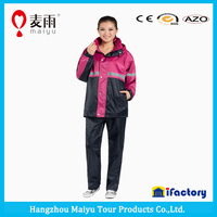 Maiyu new fashion high quality unisex rain suit red