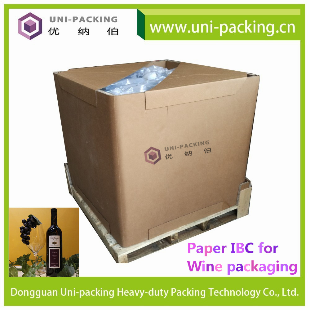 Wine packaging Paper IBC, Paper IBC <strong>Container</strong> for packing wine, IBC box for wine