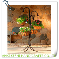 4-Arm Hanging Basket Tree Plant Stand