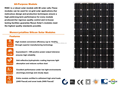 RS6C-M Series 250W-270W Mono Solar Panel Price Used in on-grid or off-grid