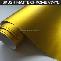 Wholesales 1.52*20m Car Body Color Changing Gold Matte Mettallic Brused Vinyl Wrap