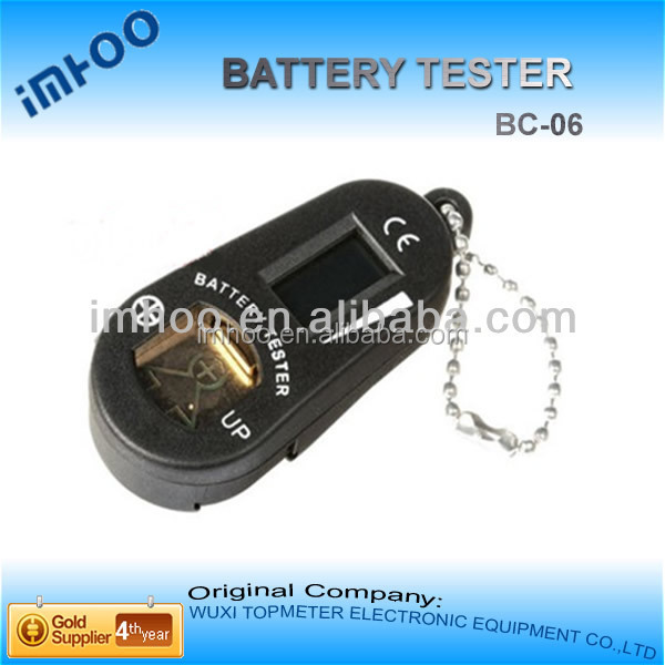 plastic hearing aid battery tester with keyring checker