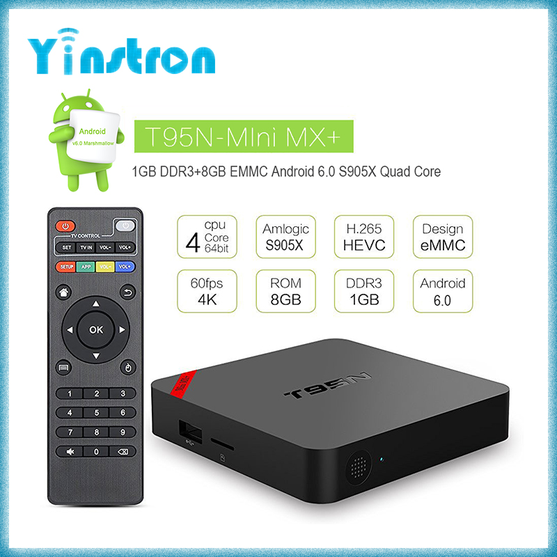 T95N-Mini MX+ S905X quad core 1GB 8GB kodi 16.1 fully loaded android tv box