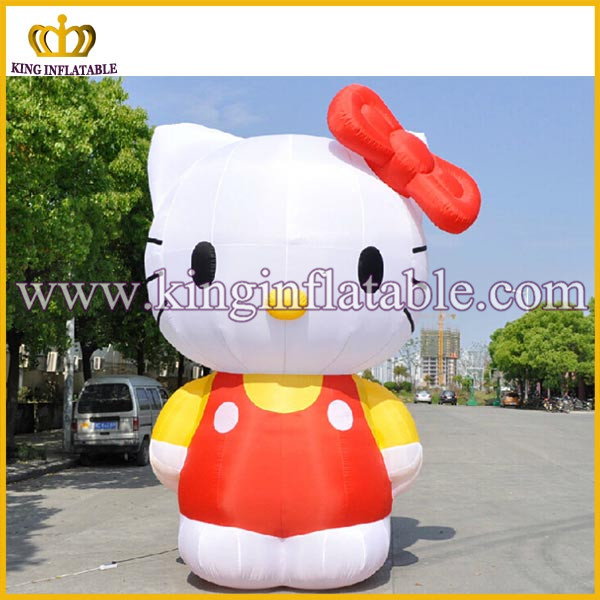 Lovely design inflatable mascot cat,giant inflatable hello kitty