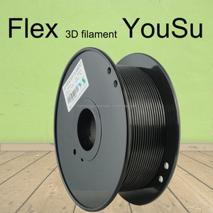 YouSu High Quality wholesale 1.75mm flex Filament 2.85mm flexible 3d printer filament 3mm black plastic 3d TPE filament
