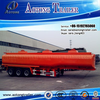 Professional manufacturer 3 axles 50000 liters Fuel/Gasoline Storage Tank Semi Trailer/oil tank semi trailer for sale