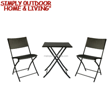 Hot Sale 3 Seats Rattan Patio Furniture Outdoor Table Chairs
