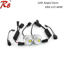 High Power Canbus For BMW 5 Series Angel Eye Halo LED Upgrade Bulbs 6000LM Ring For BMW E60 E61 LCI